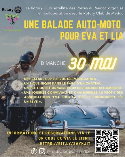 Une balade en auto ou en moto pour la bonne cause!