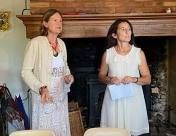 Sarah Martin, présidente 2020-21 et Marie-Laure Fornas, présidente 2021-22