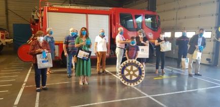 Distribution des masques aux différents EHPAD et aux pompiers à la caserne de Capbreton